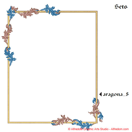 ... Renaissance Illuminated Manuscripts Borders Illustration Clip Art EPS
